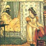 Rotkäppchen am Bett der Grossmutter, Illustration Walter Crane