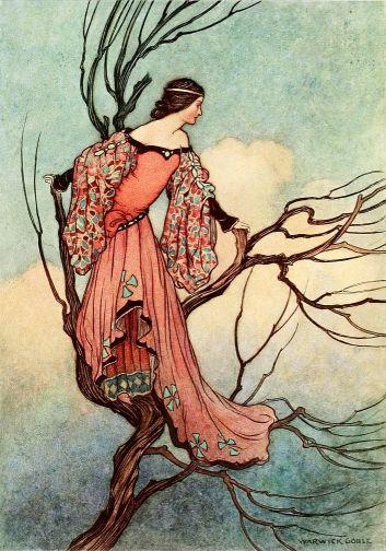Illustration von Warwick Goble zu dem Märchen Der Eisenofen von den Brüdern Grimm