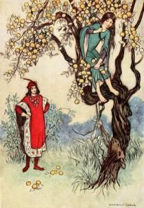 Einäuglein, Zweiäuglein und Dreiäuglein, Märchenbilder Warwick Goble