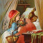 Rotkäppchen am Bett der Großmutter, Offterdinger, Leutemann