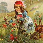 Rotkäppchen beim Blumenpflücken, Offterdinger, Leutemann