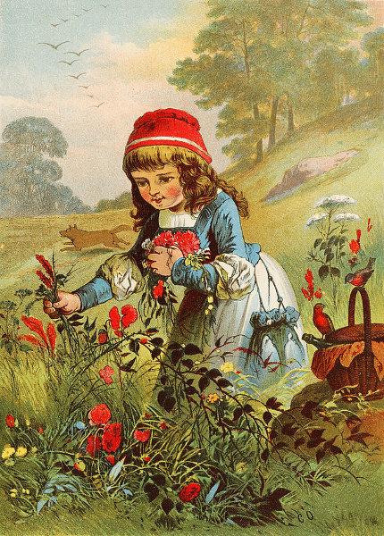 Illustration von Carl Offterdinger zu dem Märchen Rotkäppchen