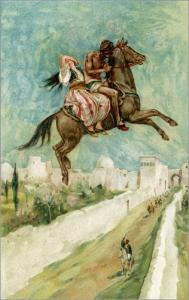Das Ebenholzpferd, Geschichten aus Tausendundeiner Nacht, Illustration Walter Paget