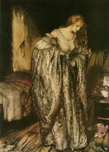 Die wahre Braut, Märchen der Brüder Grimm. Märchenbilder von Arthur Rackham