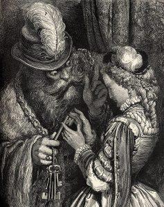 Ritter Blaubart, Märchen von Charles Perrauöt, Illustration Gustave Dore