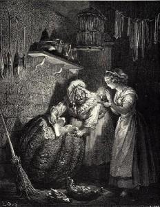 Cendrillon (Aschenputtel), Märchen von Charles Perrault, Märchenbilder von  Gustave Doré