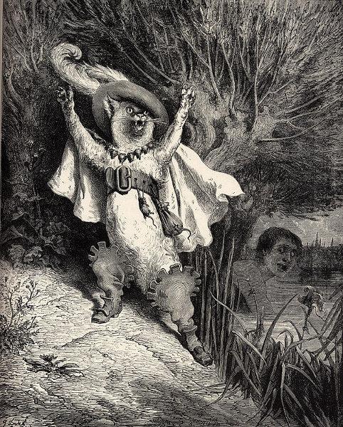Der gestiefelte Kater, Märchenbilder von Gustave Perrault