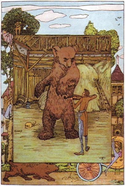Illustration von Heinrich Vogeler zu dem Märchen Vom klugen Schneiderlein