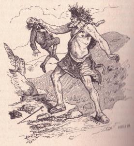 Dritte Legende von Rübezahl, Illustration Ludwig Richter