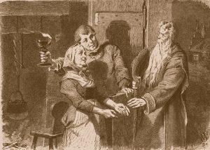Der Arme und der Reiche. Grimms Märchen, Illustration Philip Grot-Johann