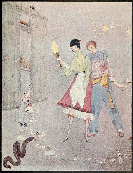 Die lächerlichen Wünsche, Märchen von Charles Perrault. Illustration Harry Clarke