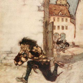 Die kluge Gretel, Illustration Arthur Rackham