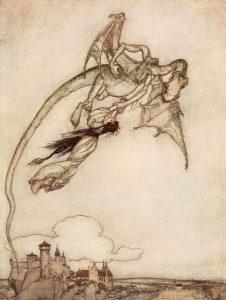 Die vier kunstreichen Brüder, Brüder Grimm. Märchenbilder von Arthur Rackham