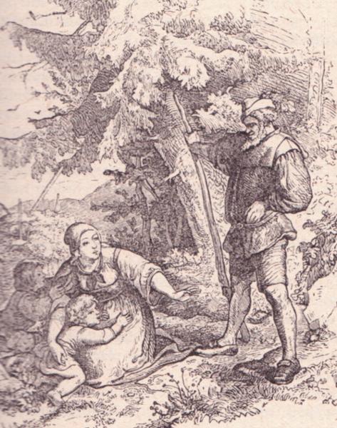 Vierte Legende von Rübezahl, Illustration Ludwig Richter