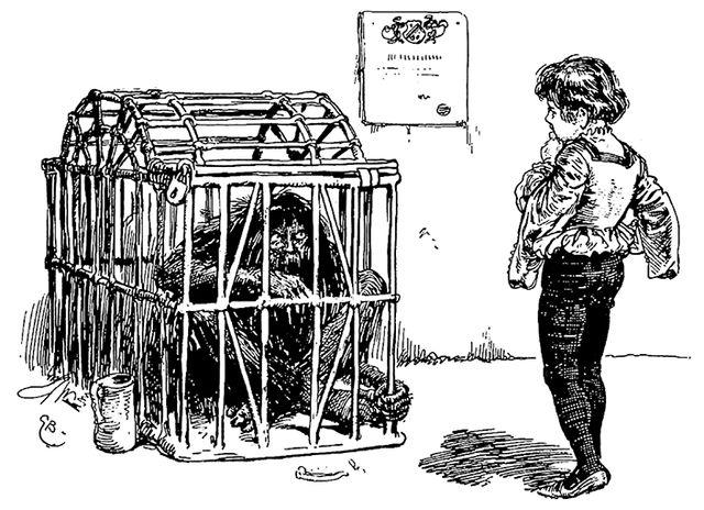 Illustration von Gordon Browne zu dem Märchen Der Eisenhans von den Brüdern Grimm