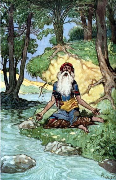Illustration von René Bull zu Sindbad der Seefahrer