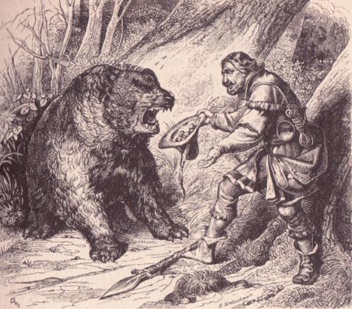 Illustration von Adolf Schrödter zu dem Märchen Die Bücher der Chronika der drei Schwestern