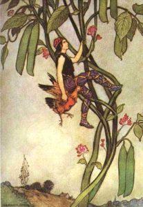 Jack und die Bohnenranke, englisches Märchen. Märchenbilder von Warwick Goble