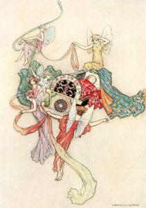 Die weiße Katze, Märchen von Madame d'Aulnoy. Illustration Warwick Goble