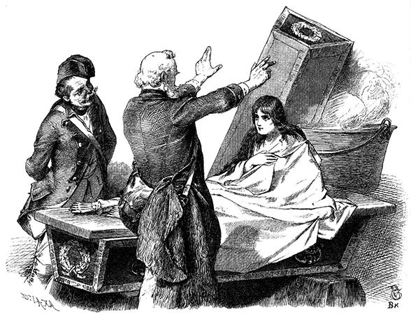 Bruder Lustig, Grimms Märchen. Illustration Philip Groth-Johann