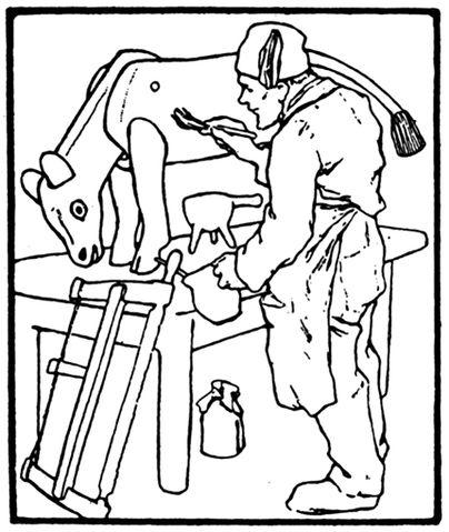 Illustration von Otto Ubbelohde zum Märchen Das Bürle von den Brüdern Grimm