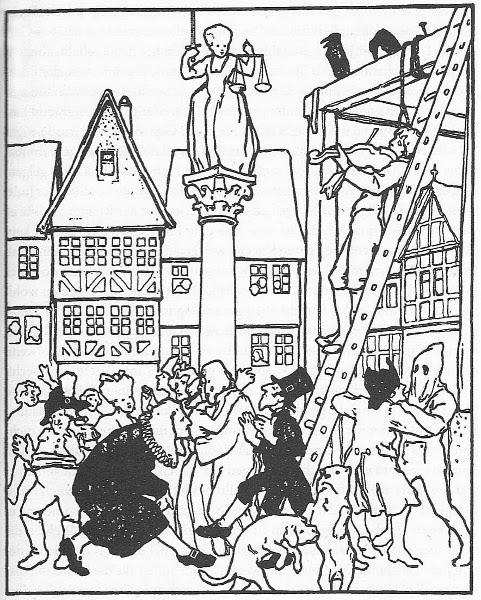 Der Jude im Dorn, Illustration Otto Ubbelohde