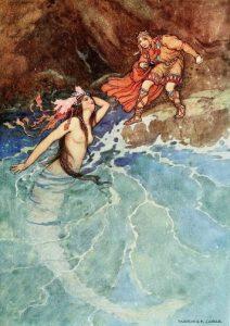 Der gelbe Zwerg, Märchen von Madame d'Aulnoy, Illustration Warwick Goble