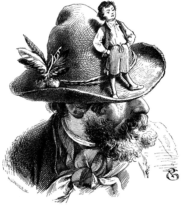 Illustration von Philip Grot-Johann zu dem Märchen Daumesdick von den Brüdern Grimm