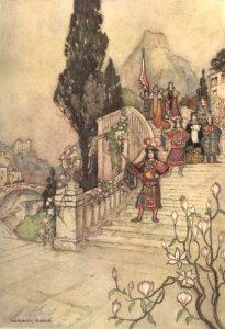 Der Dummling. Giambattista Basile: Pentameron. Illustration Warwick Goble