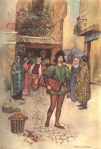 Illustration von Warwick Goble zum Märchen Vardiello aus dem Pentamerone von Giambattista Basile