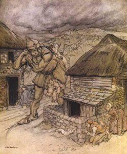 Jack der Riesentöter. Illustration Arthur Rackham