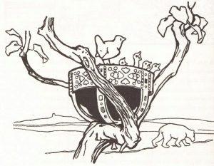 Der Zaunkönig und der Bär, Illustration Otto Ubbelohde