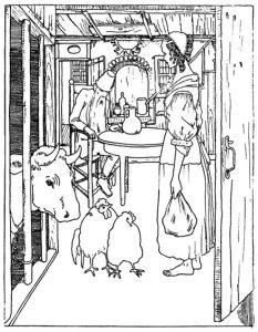 Das Waldhaus. Märchen der Brüder Grimm, Illustration Heinrich Vogeler