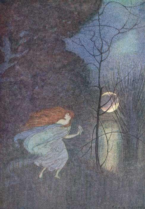 Illustration von Elenore Abbott zu dem Märchen Die Gänsehirtin am Brunnen