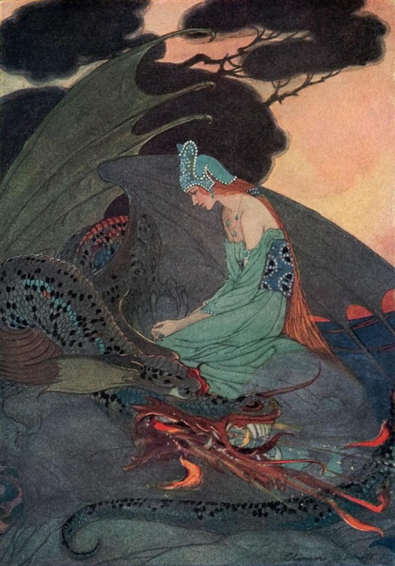 Illustration von Eleanor Abbott zu dem Märchen Die zwei Brüder