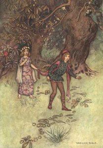 Nennillo und Nennella. Märchen aus Basiles Pentameron. Illustration Warwick Goble