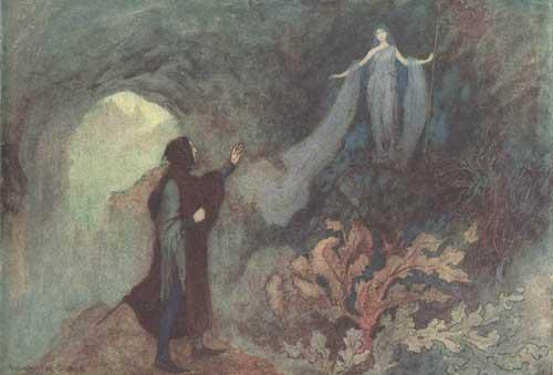 Illustration Warwick Goble zum Märchen Die Aschenkatze aus dem Pentameron von Giambattista Basile