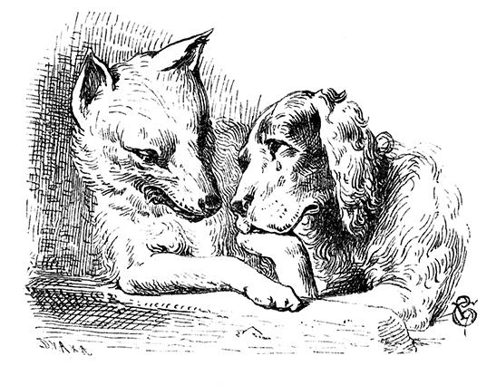 Illustration von Philip Grot-Johann zu dem Märchen Der alte Sultan von den Brüdern Grimm