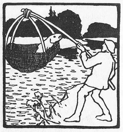 Illustration von Otto Ubbelohde zu dem Märchen Die Goldkinder von den Brüdern Grimm