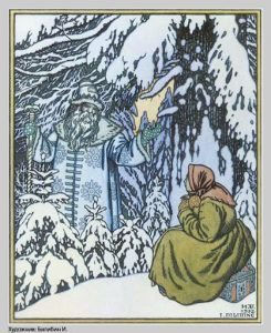 Väterchen Frost, russisches Märchen. Illustration Iwan Bilibin
