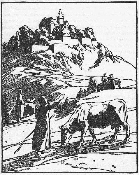 Illustration von Otto  zu dem Märchen  drei Vügelkens von den Brüdern Grimm