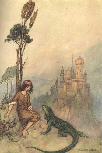 Das Ziegengesicht, Pentameron, Giambattista Basile, Warwick Goble (Illustrator)