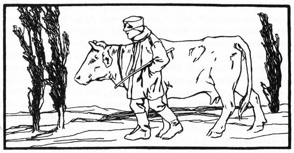 Illustration von Otto Ubbelohde zu dem Märchen Der gute Handel von den Brüdern Grimm