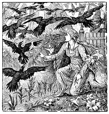 Illustration Henry Justice Ford zu dem Märchen Die zwölf Brüder