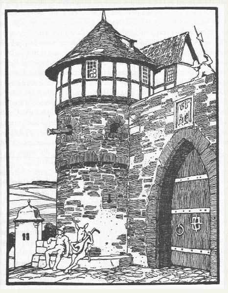 Illustration von Otto Ubbelohde zu dem Märchen Das Eselein von den Brüdern Grimm