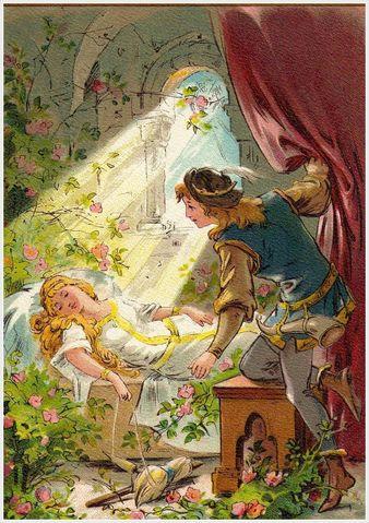 Illustration von Thekla Brauer zu dem Märchen Dornröschen