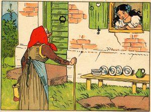 Schneewittchen mit Stiefmutter, Illustration Lothar Meggendorfer