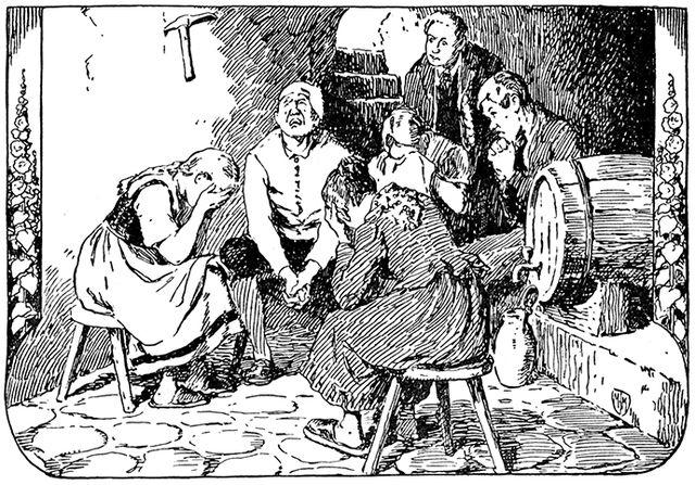 Illustration von Franz Müller-Münster zu dem Märchen Die kluge Else von den Brüdern Grimm