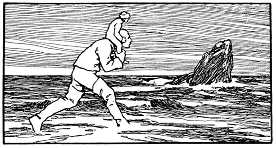 Illustration von Otto Ubbelohde zu dem Märchen Die sechs Diener von den Brüdern Grimm