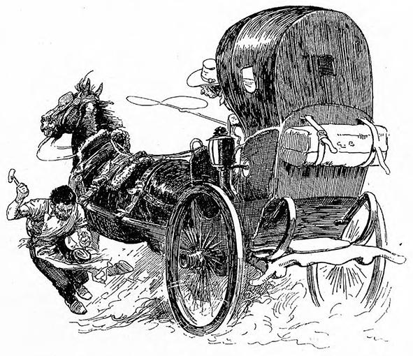 Illustration von Gordon Browne zu dem Märchen Die drei Brüder